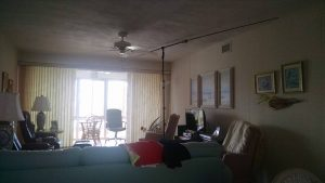 Buddipole antenna in condo living room!